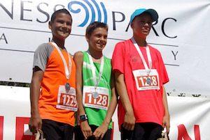 Podium de la course de 2600 mètres