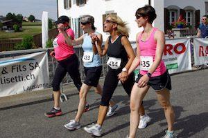 Arrivée de la course de Nordic Walking