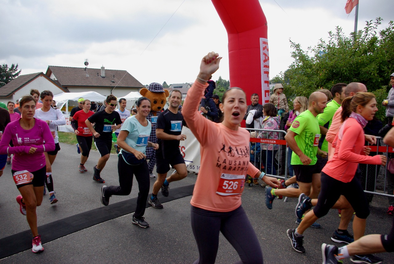 Départ de la course des 5,8 et 10 kilomètres