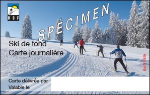 Carte d'accès ski de fond journalière